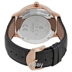 Brand New Movado Motion 0660009 Men's Black Leather Rose Gold Quartz Smart Watch