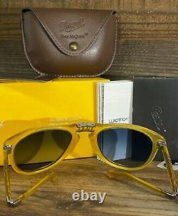 Brand New Persol Sunglasses PO0714SM 204 / S3 Yellow Blue STEVE MCQUEEN