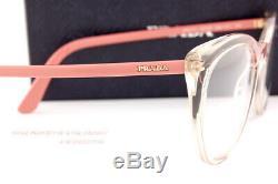 Brand New Prada Eyeglass Frames 07VV 326 Crystal/Pink Size 53 For Women