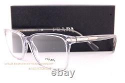 Brand New Prada Eyeglass Frames PR 14WV U43 Grey Crystal For Men Women Size 56mm