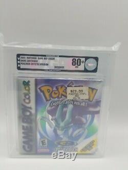 Brand New Sealed Pokemon Crystal Version Game Boy Color VGA graded 80+ 2001