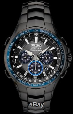 Brand New Seiko Ssg021 Coutura Solar Radio Controlled Black Pvd Mens Watch Nwt