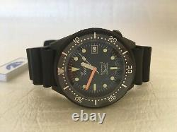 Brand New Squale 1521 50 Atmos 1521-026PVD PVD Black Watch Warranty Swiss Made
