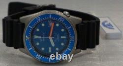 Brand New Squale 1521 50 Atmos BLUE 026-M Matte Watch Warranty Swiss Made