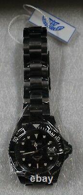 Brand New Squale Y1545 20 Atmos Classic DLC Black Watch Warranty Swiss Made