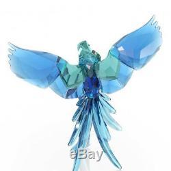 Brand New Swarovski (5136775) Blue Parrots Birds Of Paradise Crystal Figurine