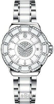 Brand New Tag Heuer Formula 1 Wah121d. Ba0861 Diamond White Ceramic Luxury Watch
