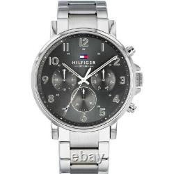 Brand New Tommy Hilfiger 1710382 Silver Stainless Steel Mens Chronograph Watch