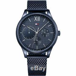 Brand New Tommy Hilfiger Damon Stainless Steel Blue Mesh Men Watch 1791421
