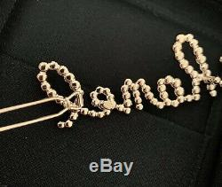 Brand new Chanel Logo Crystal and faux Pearl Hair Clip Barrette 2019 SOLD OUT