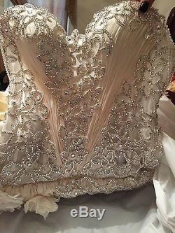 Brand new designer wedding gown with Swarovski crystals size 8