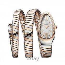 Bulgari Serpenti Tubogas Steel 18K Rose Gold 35 mm Watch 103149 SP35WSPGD. 2T