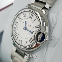 CARTIER Ballon Bleu Ladies Stainless Steel Small Model 28 mm Watch W69010Z4
