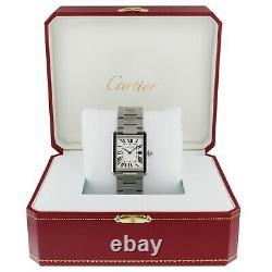 Cartier Tank Solo Silver Dial Steel 27 x 34.5 mm Quartz Large Watch W5200014