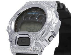 Casio Mens G Shock 6900 Stainless Steel Genuine White Diamond Watch 3.0 Ct