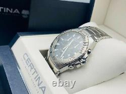 Certina DS SPEL Chronograph Black Dial Men's Watch 40mm SWISS MADE Brand New