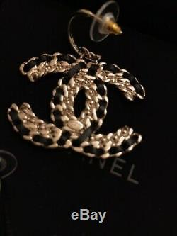 Chanel 20c Drop CC Earrings. Gold And Crystals. Brand New