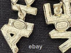 Chanel- Brand Nwt Crystal Pearl Signature Stud Earrings