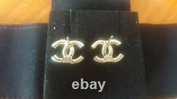Chanel Crystal Stud Earrings 2019 19A Collection Authentic Brand New in Box CC
