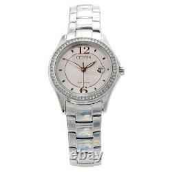 Citizen Watch Ladies Eco Drive FE1140-86X Silver Silhouette Crystal Brand New