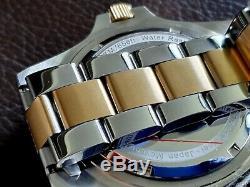 DIVE SUBMARINER BY GERMAN BRAND Eichmuller Gold / Steel + free strap +box blue