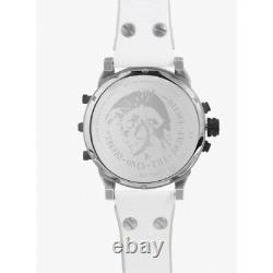 Diesel DZ7401 Mr Daddy 2.0 White, Silver and Leather Chronograph Mens Watch