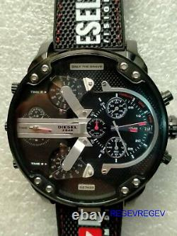 Diesel DZ7433 Brand New Mr. Daddy 2.0 Chronograph black nylon silicone watch