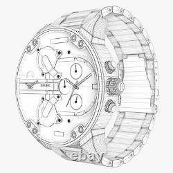 Diesel Dz7414 Big Daddy 2.0 57mm Chronoghraph Watch Brand New