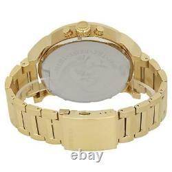 Diesel Mr. Daddy 2.0 DZ7399 Gold Stainless Steel Men Watch Chrono Brand New