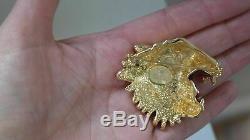 GUCCI SIGNED RAJAH TIGER BROOCH Pin Brand New
