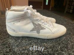 Ggdb Golden Goose Deluxe Brand Swarorovski Crystals Leather Sneakers New 35
