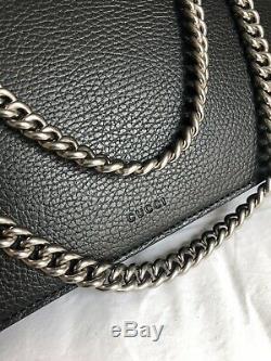 Gucci Brand New Dionysus Black Leather With Swravoski Crystal Retail $2650