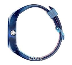 Gucci Sync XXL YA137112 Two-Tone Rubber Band Blue Dial Unisex Watch Brand New