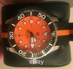 Helm Komodo Orange Dial Watch BRAND NEW MAY 15TH 03AR4