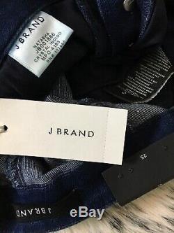 J Brand Natasha High-rise Skinny, Crystal Indigo Sz 25 Stunning Buttons Nwt