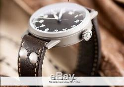 Laco Munster 42mm Type A Flieger Automatic Watch Sapphire Crystal Brand New