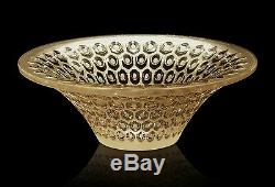 Lalique Provence Rayons Small Bowl Gold Luster #10412200 Brand Nib Save$$ F/sh