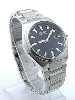 MEN'S CITIZEN WATCH BM6660-50L Brand New Stainless Steel Blue Dial Eco-Drive