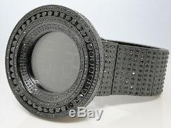 MENS BRAND NEW 52MM BEZEL i GUCCI DIGITAL BLACK SIMULATED DIAMOND WATCH 50 CT