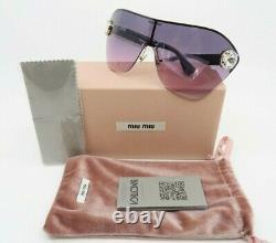 MIU MIU Rimless Pink Shield Crystals Sunglasses, New withBox SMU 68US ZVN-153 58mm