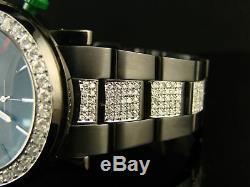 Mens Brand New 6.0ct Diamond 101g Gucci Ya101331 Black Pvd Watch