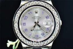 Mens Brand New Rolex DateJust II 41MM Ref. 116334 Channel Set Diamond Watch 6 CT
