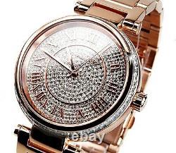 Michael Kors Ladies Watch Mk5868- Cristal Dial Rose Gold Tone -brand New