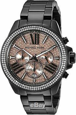 Michael Kors MK5879 Women Everest Black Rose Stainless-Steel Watch Brand New