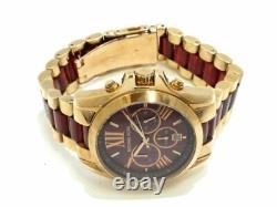 Michael Kors MK6270 Bradshaw Red Dial Chrono Unisex Women Watch Brand New