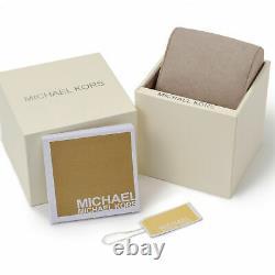 Michael Kors MK8445 Dylan Black Gold Tone Chrono Men's Wrist Watch Brand New