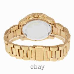 Michael Kors MK8481 Brecken Black Dial Gold Tone Men Wrist Watch Brand New