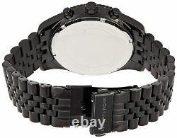 Michael Kors MK8603 Black Lexington Chrono Men Unisex Wrist Watch Brand New