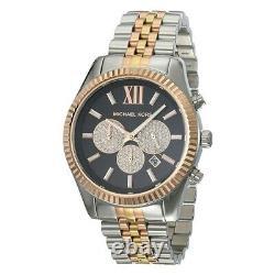 Michael Kors MK8714 Lexington Diamond Accents Men's Wrist Watch Brand New