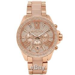 Michael Kors Wren Ladies Watch Mk6096 Crystal Dial Rose Gold Tone Brand New